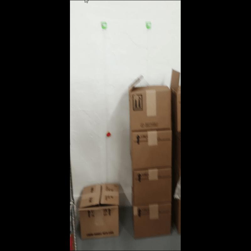 Technické kontrolní body s červenou koulí