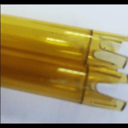 Découpe de tube polycarbonate