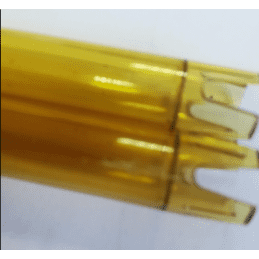 Polycarbonate tube cutting