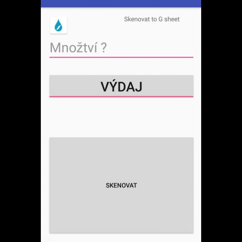 Aplikace Android pro inventář