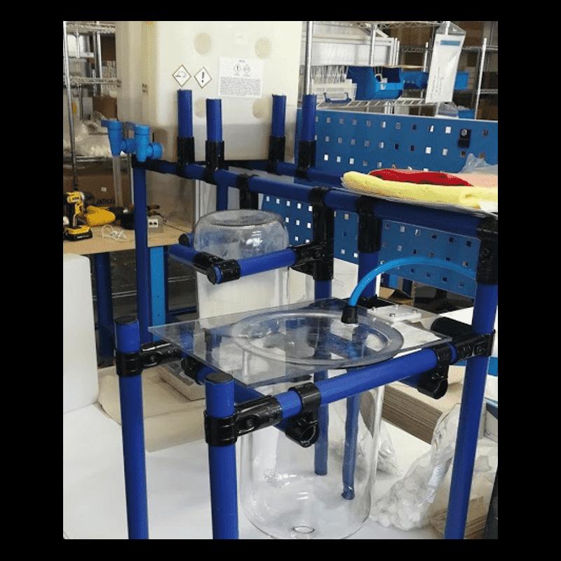 Glue preparation station